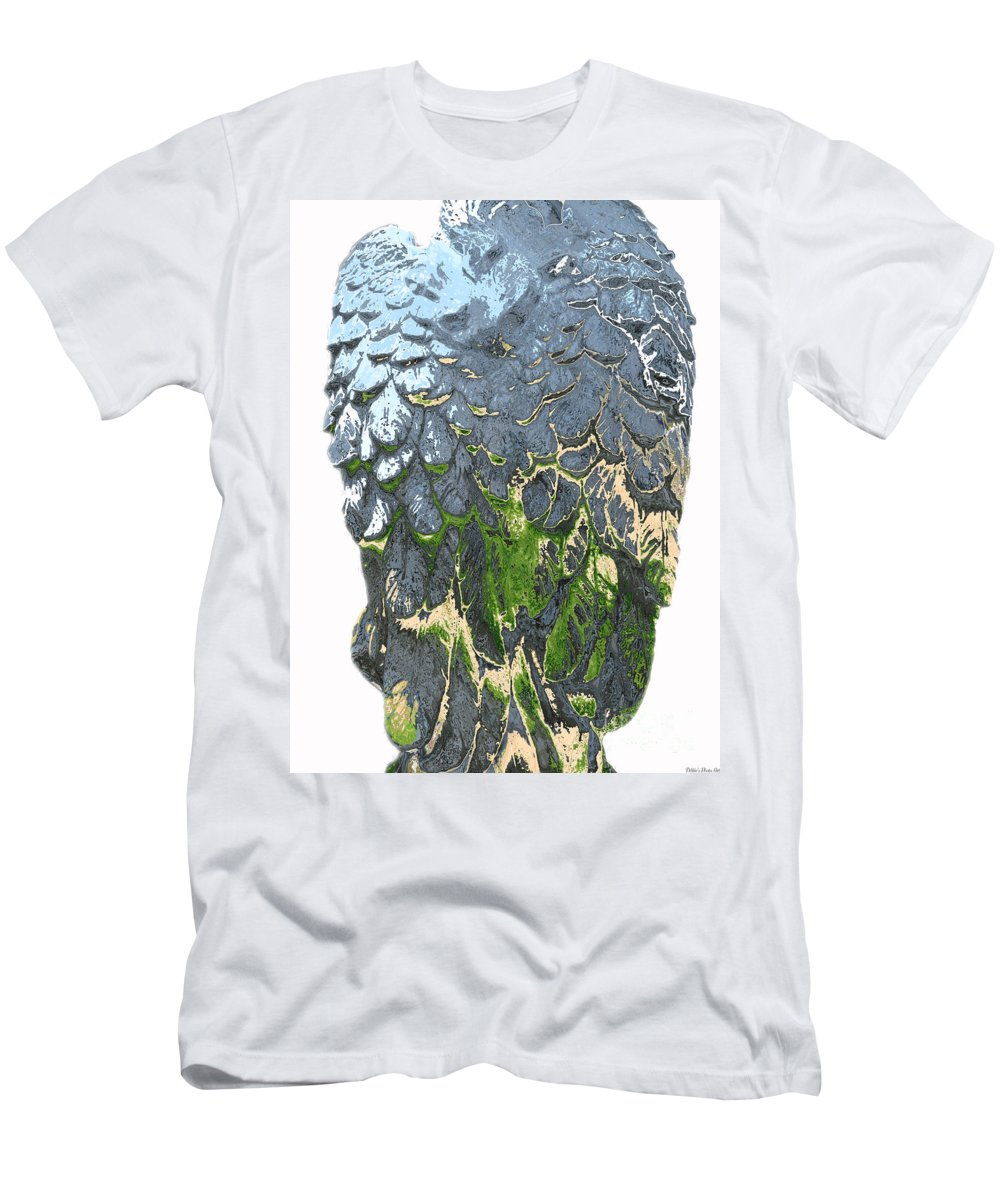 Wings Men's T-Shirt (Athletic Fit) featuring the photograph Matalic Angle Wings Art by Debbie Portwood