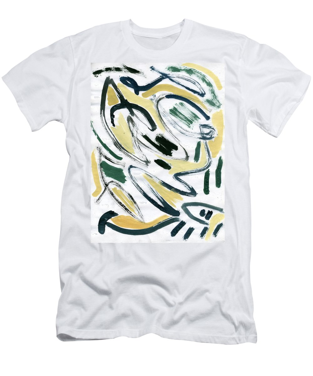 Medieval Dreams Men's T-Shirt (Athletic Fit) featuring the painting Medieval Dreams by Taylor Webb
