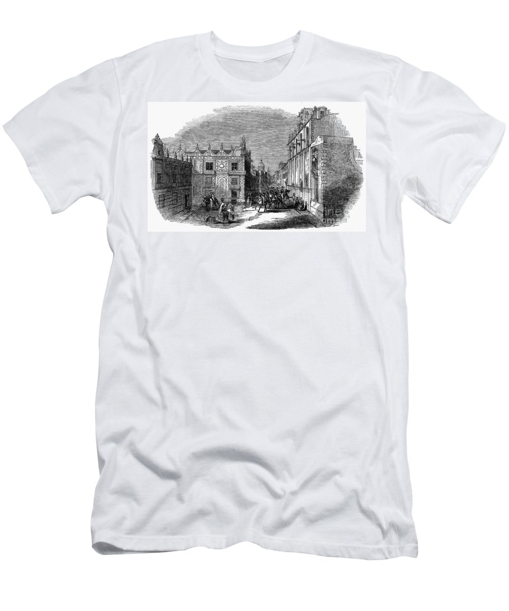 1845 Men's T-Shirt (Athletic Fit) featuring the photograph Mexico City, 1845 by Granger