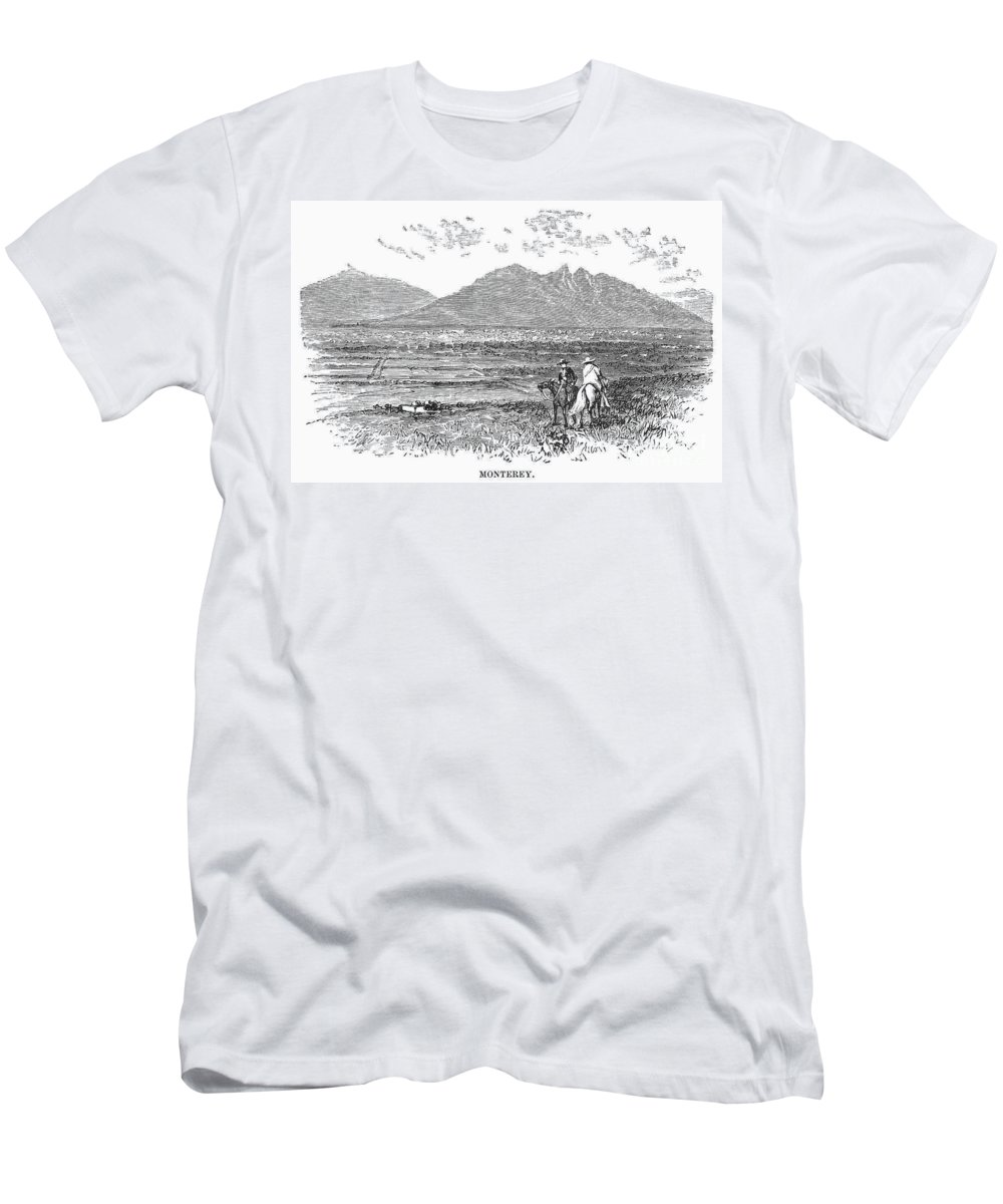 1846 Men's T-Shirt (Athletic Fit) featuring the photograph Mexico: Monterrey, C1846 by Granger