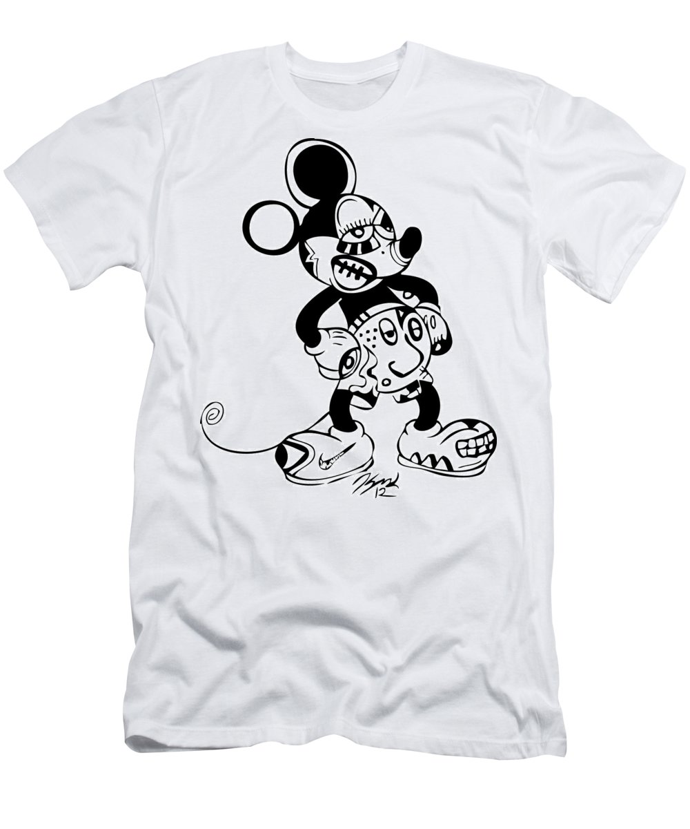 Mickeymouse Men's T-Shirt (Athletic Fit) featuring the digital art Mickey Mouse by Kamoni Khem