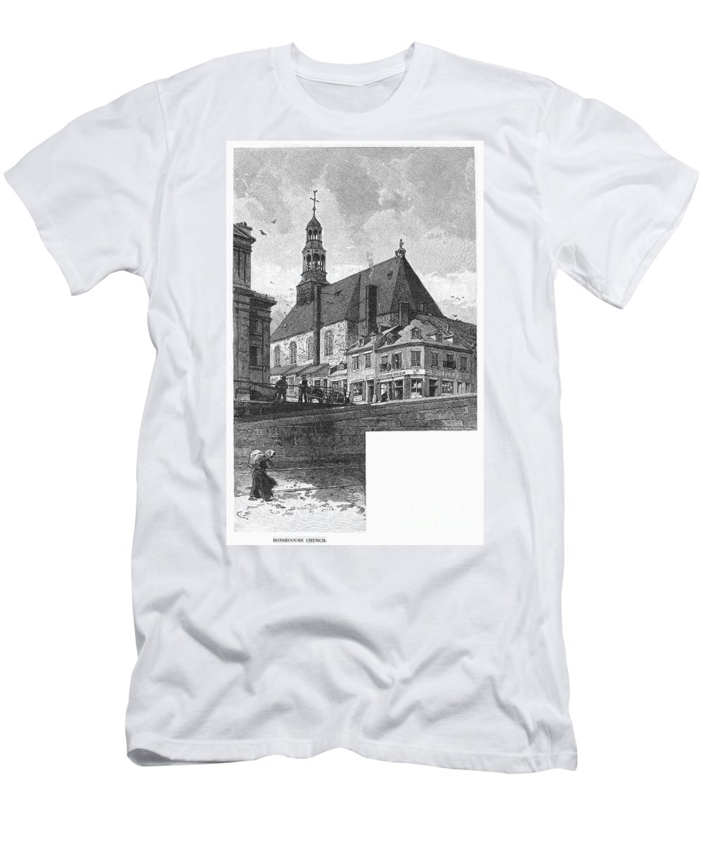 1889 Men's T-Shirt (Athletic Fit) featuring the photograph Montreal: Bonsecours by Granger