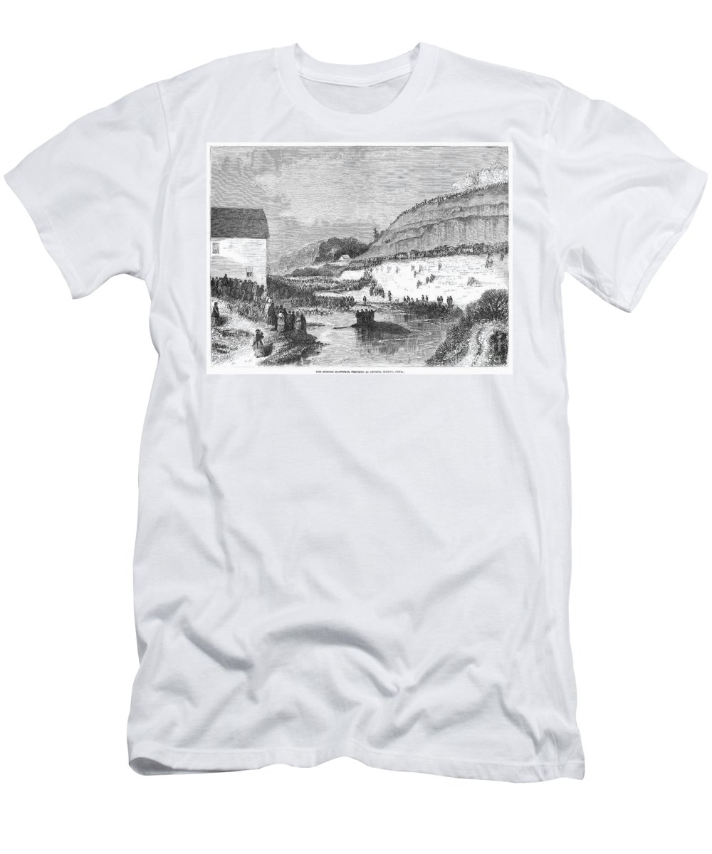1873 Men's T-Shirt (Athletic Fit) featuring the photograph Mormon Baptismal, 1873 by Granger