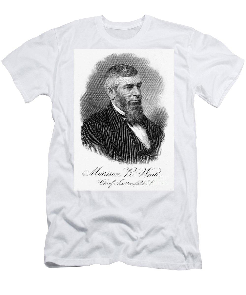 19th Century Men's T-Shirt (Athletic Fit) featuring the photograph Morrison R. Waite (1816-1888) by Granger