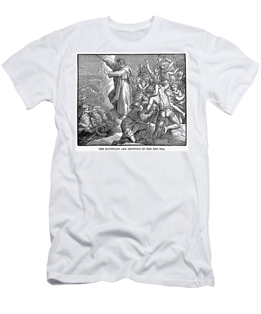 Ancient Men's T-Shirt (Athletic Fit) featuring the photograph Moses And The Red Sea by Granger