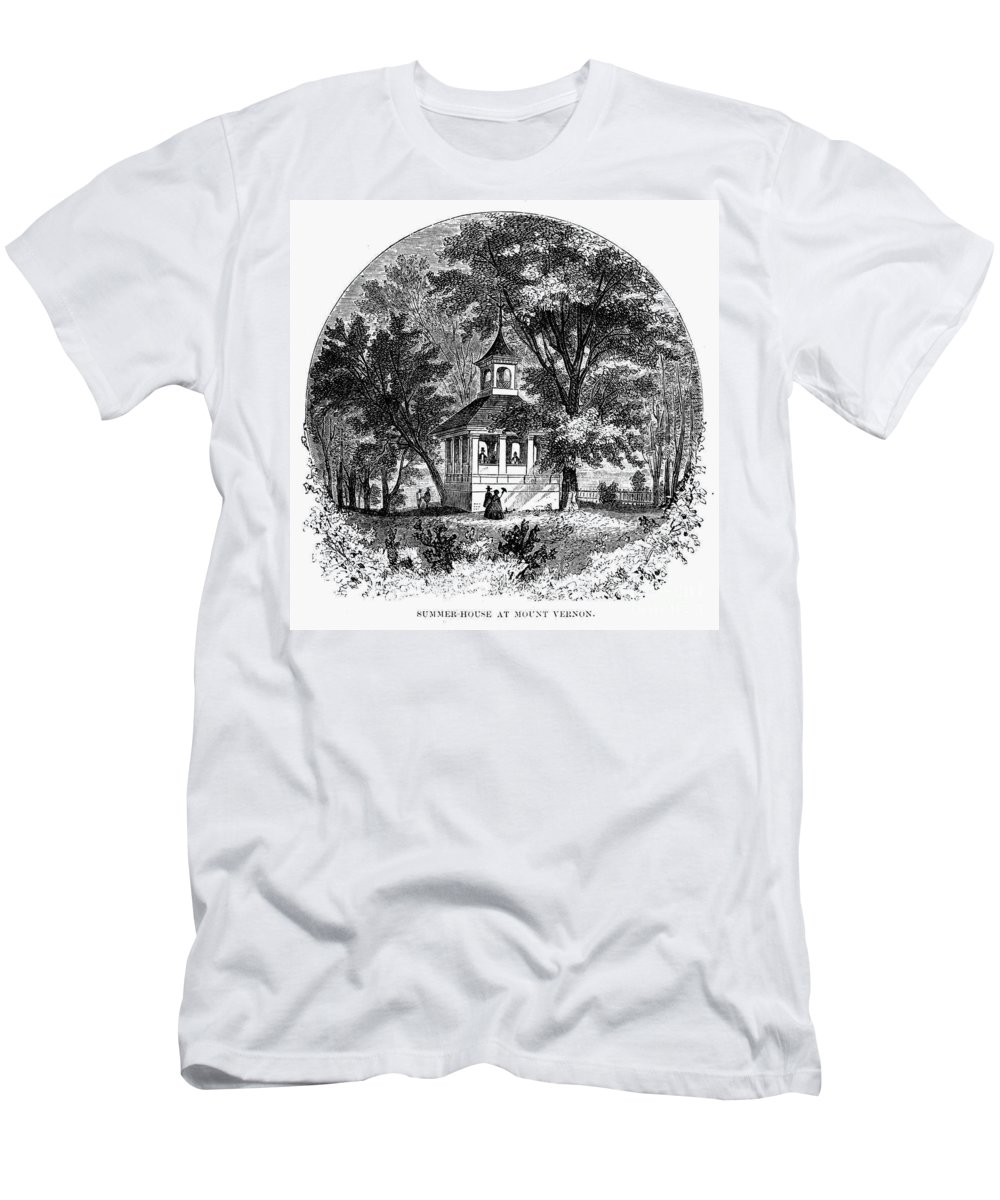 1883 Men's T-Shirt (Athletic Fit) featuring the photograph Mount Vernon, 1883 by Granger