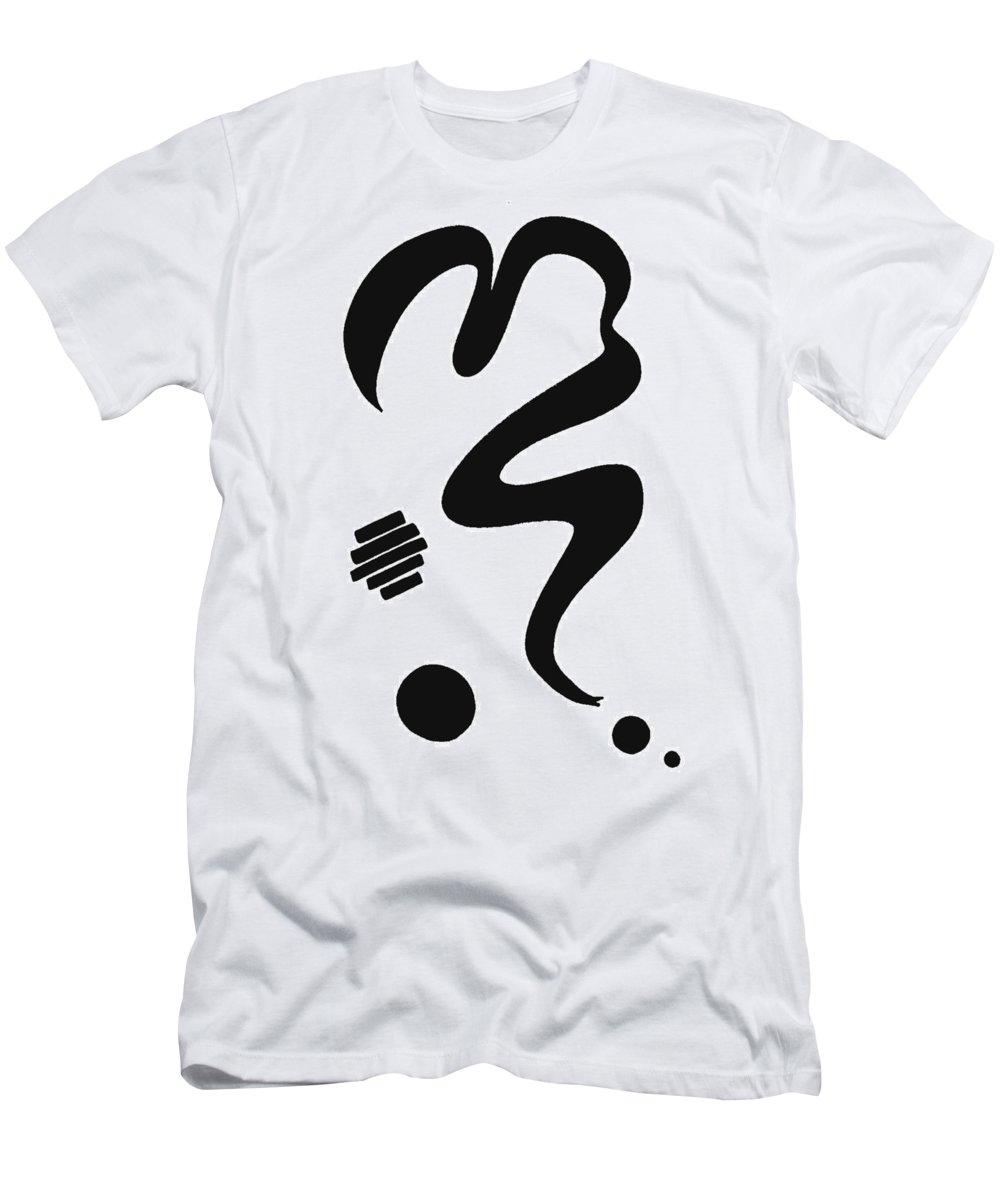 Moveonart! Global Gathering. Jacob Kanduch Men's T-Shirt (Athletic Fit) featuring the digital art Moveonart Minimal 13 A by Jacob Kanduch
