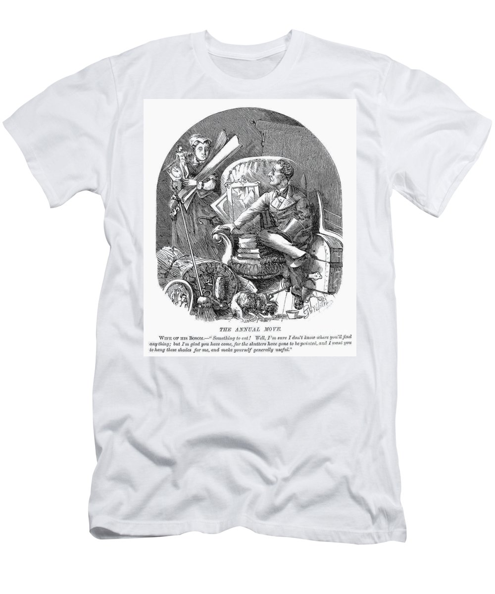 1870 Men's T-Shirt (Athletic Fit) featuring the photograph Moving Day, 1870 by Granger