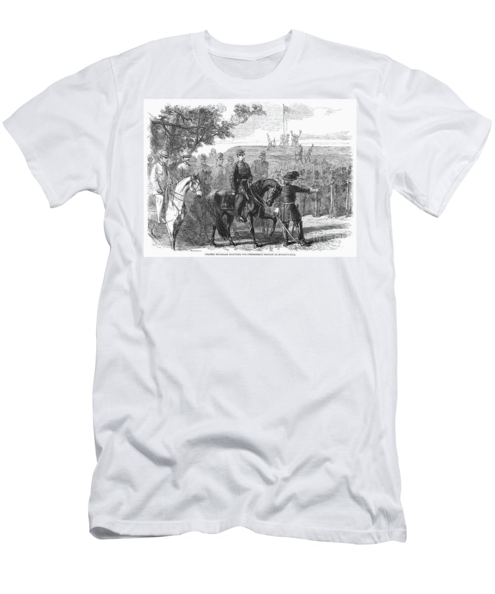 1861 Men's T-Shirt (Athletic Fit) featuring the photograph Munsons Hill, 1861 by Granger