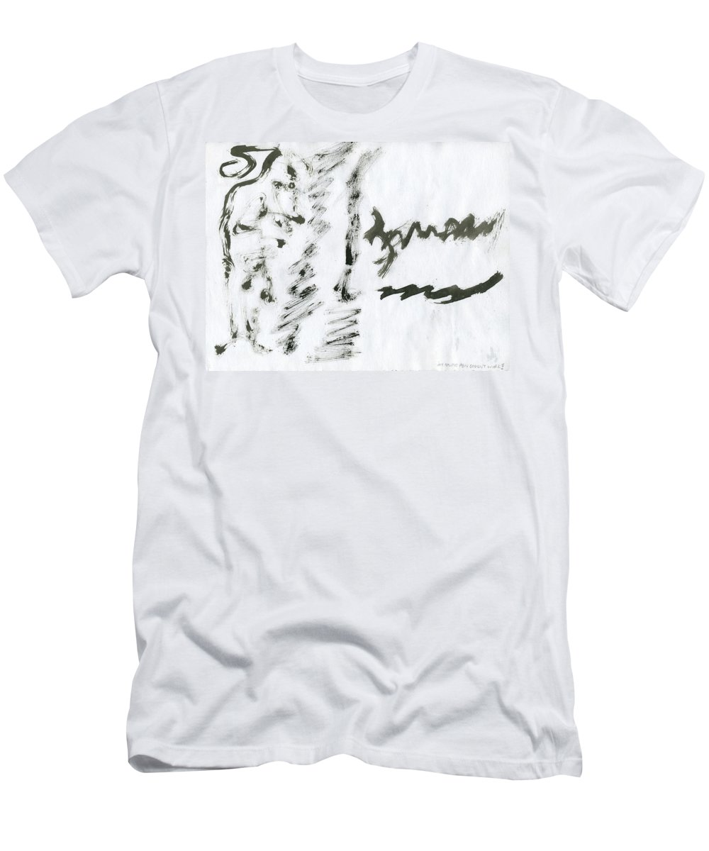 My Pen Doesn't Work Men's T-Shirt (Athletic Fit) featuring the painting My Pen Doesn't Work by Taylor Webb