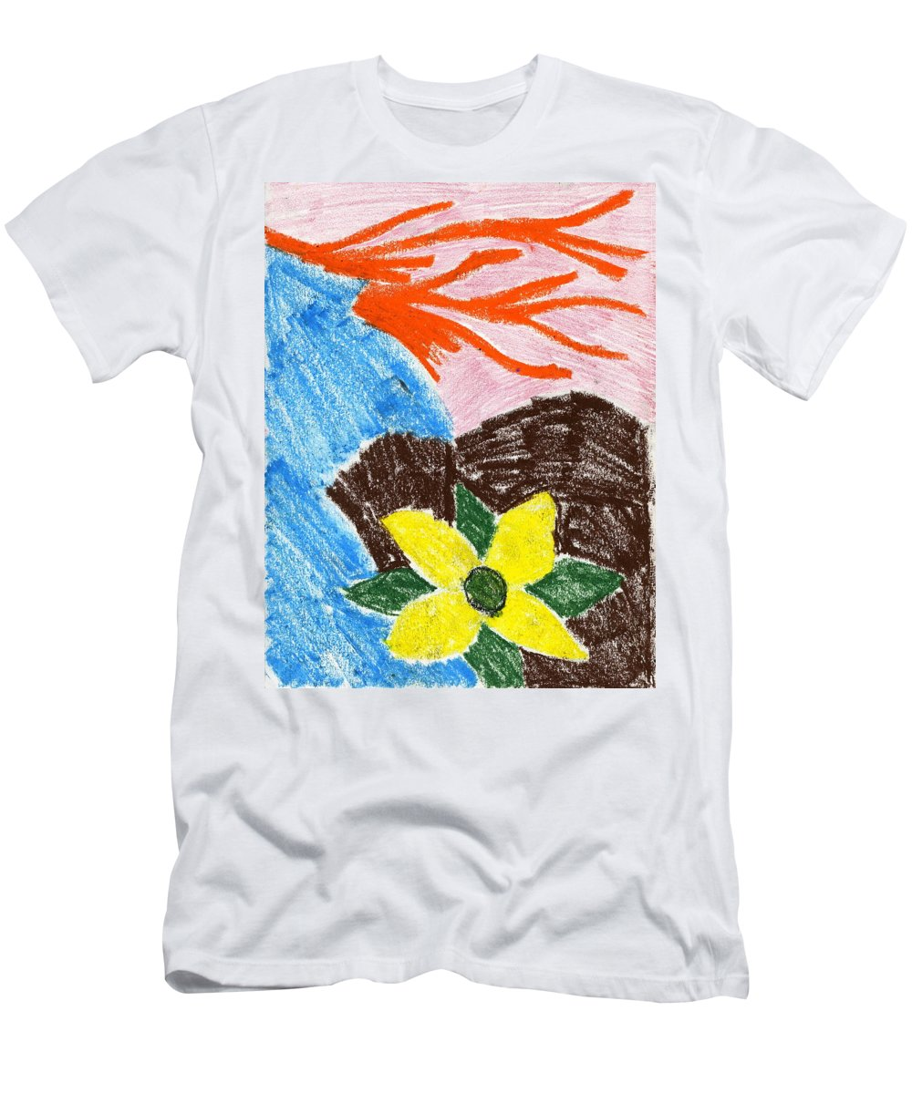 Mystic Flower Men's T-Shirt (Athletic Fit) featuring the painting Mystic Flower by Taylor Webb