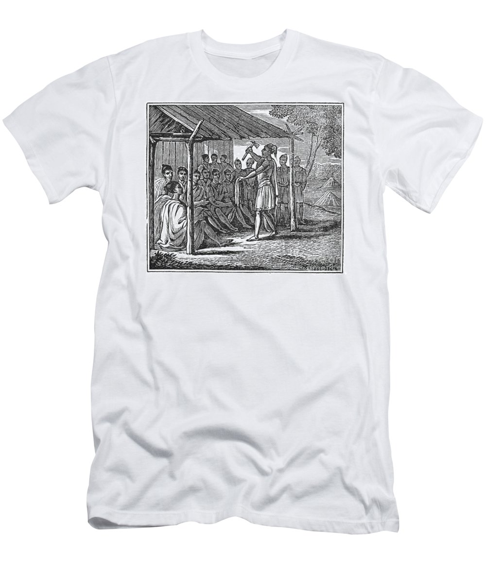 1835 Men's T-Shirt (Athletic Fit) featuring the photograph Native American Council, C1835 by Granger