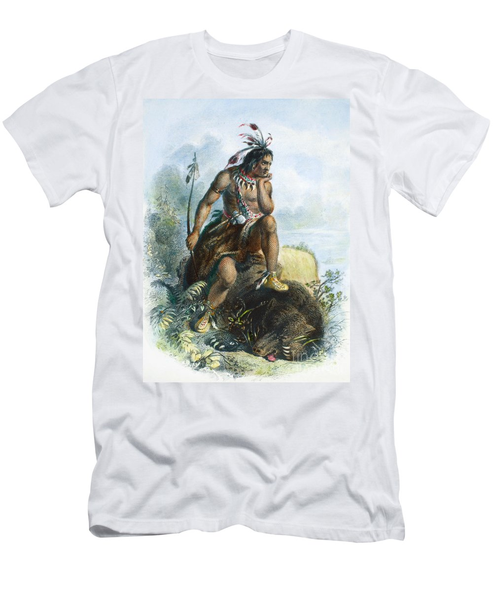1870 Men's T-Shirt (Athletic Fit) featuring the photograph Native American Hunter by Granger