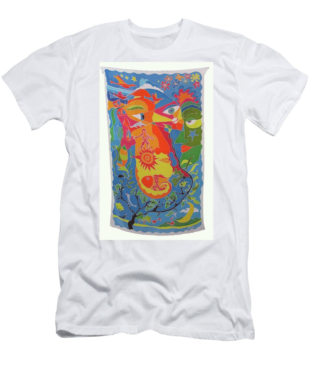 Nature T-Shirt featuring the painting Nature by Rollin Kocsis