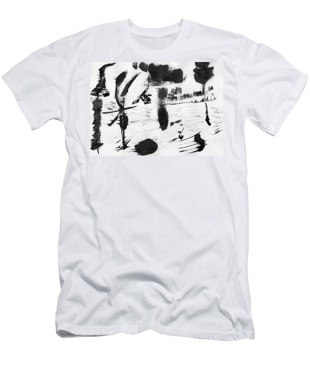 Nature's Slavery Men's T-Shirt (Athletic Fit) featuring the painting Nature's Slavery by Taylor Webb