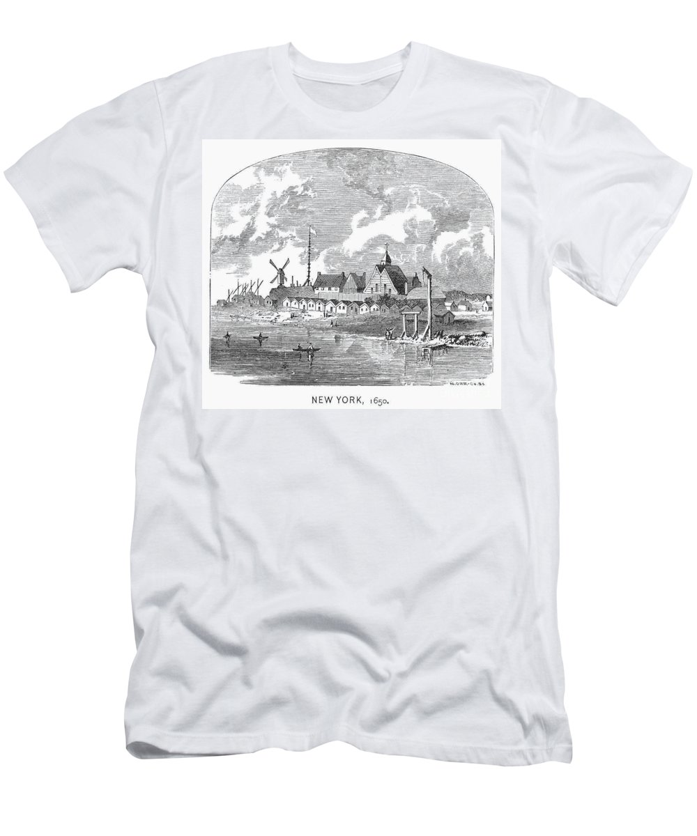 1650 Men's T-Shirt (Athletic Fit) featuring the photograph New Amsterdam, 1650 by Granger