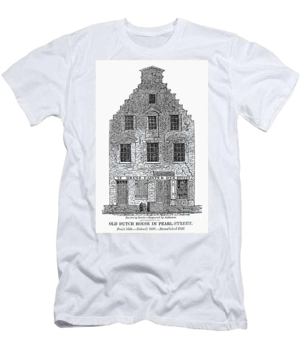 1626 Men's T-Shirt (Athletic Fit) featuring the photograph New Amsterdam: House, 1626 by Granger