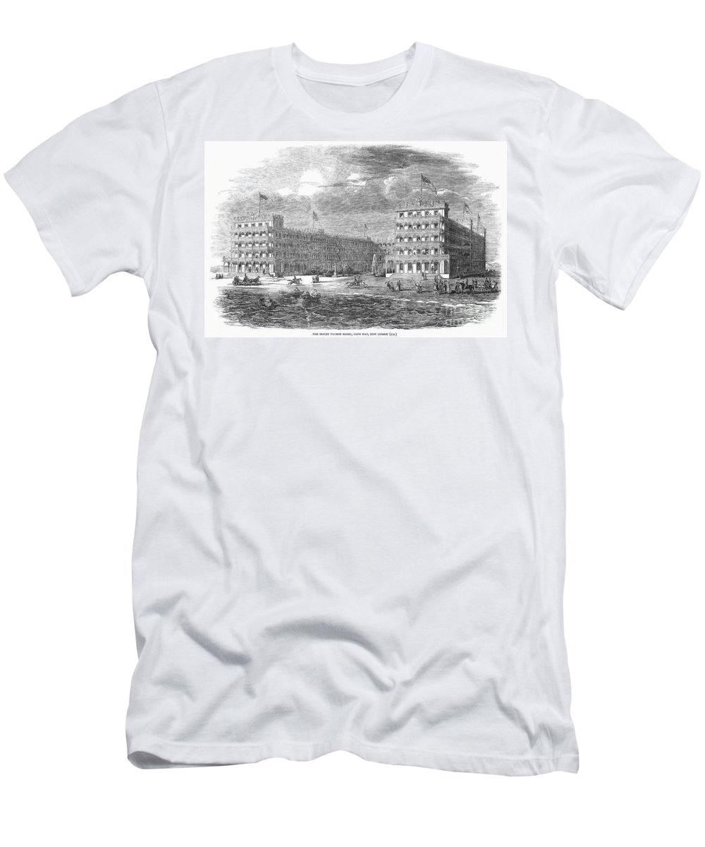 1853 Men's T-Shirt (Athletic Fit) featuring the photograph New Jersey Hotel, 1853 by Granger