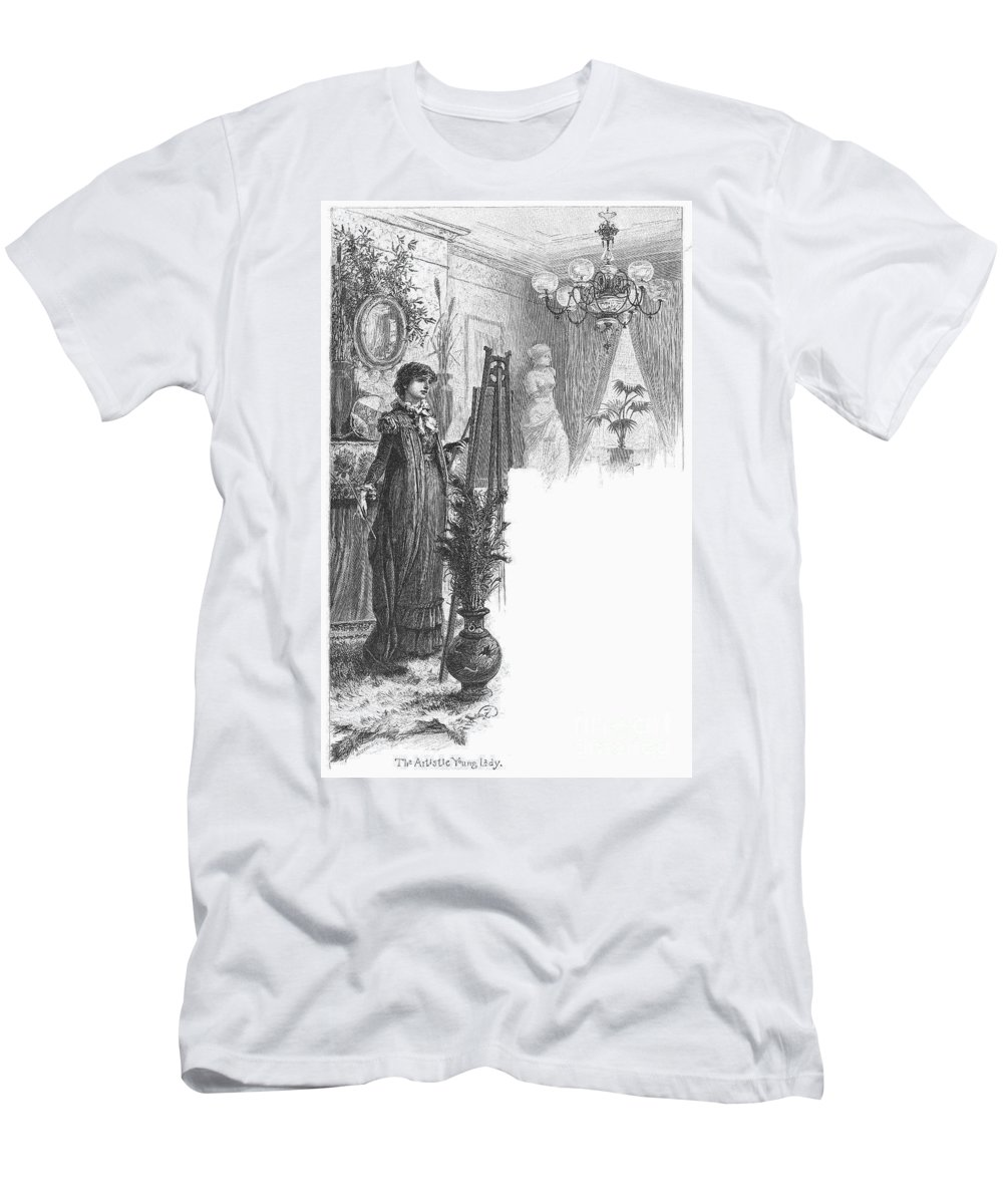 1882 Men's T-Shirt (Athletic Fit) featuring the photograph New York: Artist, 1882 by Granger