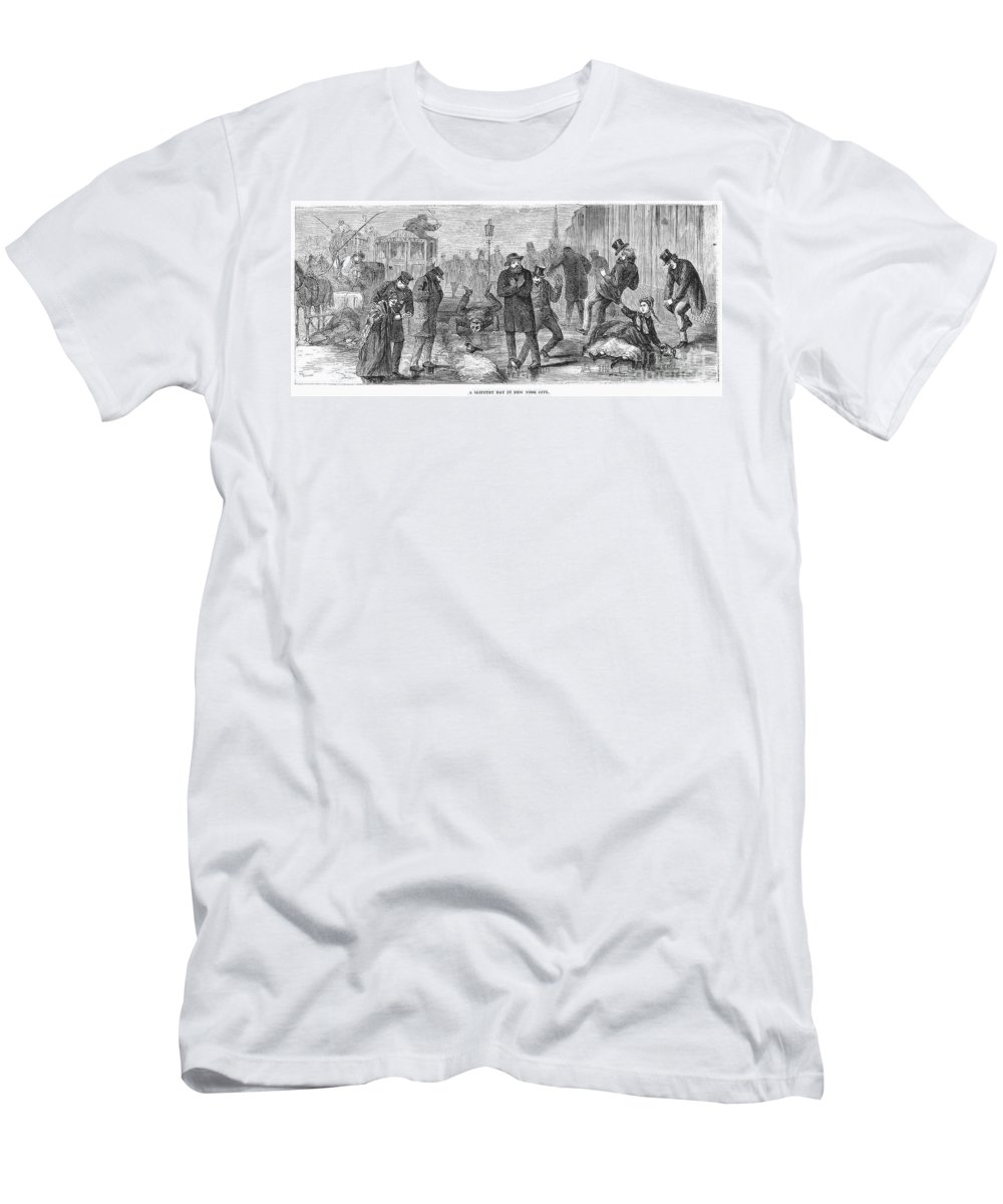 1868 Men's T-Shirt (Athletic Fit) featuring the photograph New York City: Winter by Granger