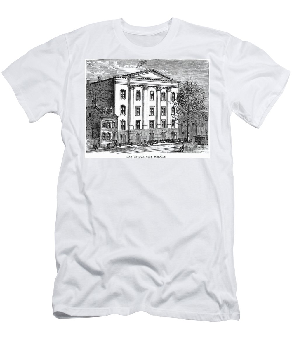 1870 Men's T-Shirt (Athletic Fit) featuring the photograph New York: High School by Granger