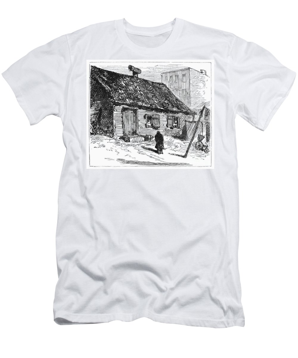 1875 Men's T-Shirt (Athletic Fit) featuring the photograph New York: Shanty, 1875 by Granger