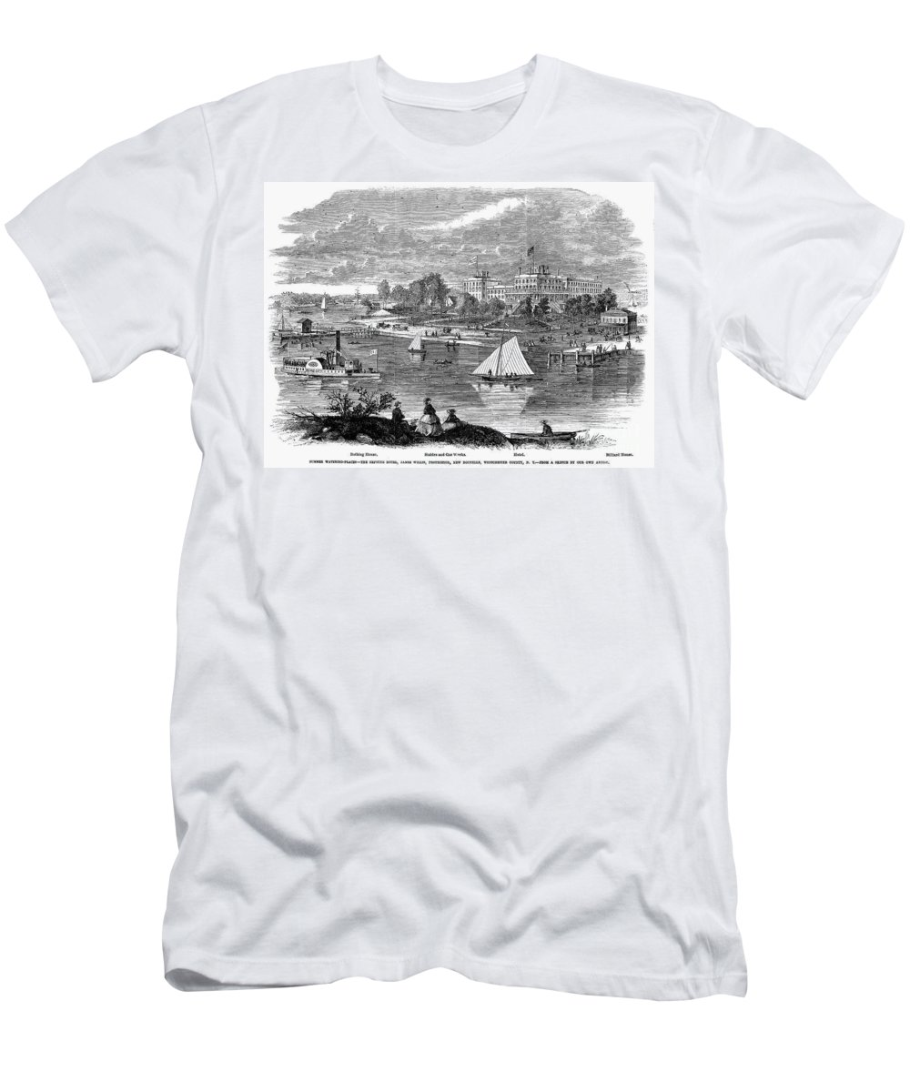 1862 Men's T-Shirt (Athletic Fit) featuring the photograph New York State: Hotel, 1862 by Granger