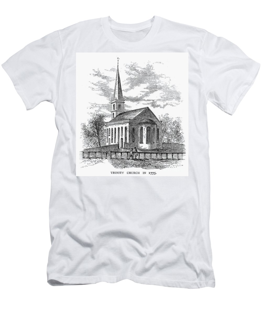 1775 Men's T-Shirt (Athletic Fit) featuring the photograph New York: Trinity Church by Granger