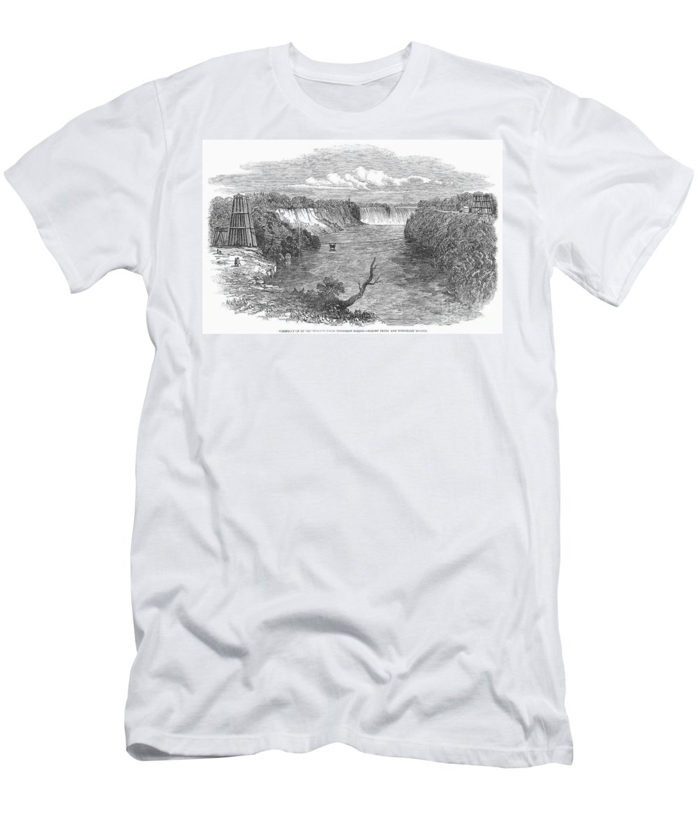 1849 Men's T-Shirt (Athletic Fit) featuring the photograph Niagara Falls, 1849 by Granger