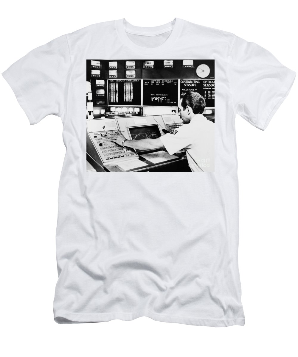 1979 Men's T-Shirt (Athletic Fit) featuring the photograph Norad Headquarters, 1979 by Granger