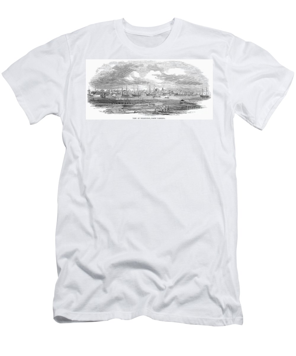 1853 Men's T-Shirt (Athletic Fit) featuring the photograph North Carolina: Wilmington by Granger