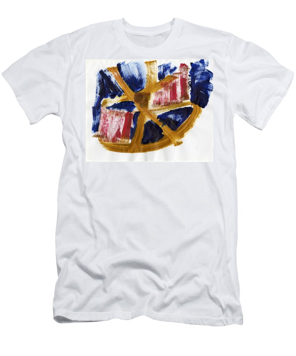 Nostic Thought Men's T-Shirt (Athletic Fit) featuring the painting Nostic Thought by Taylor Webb