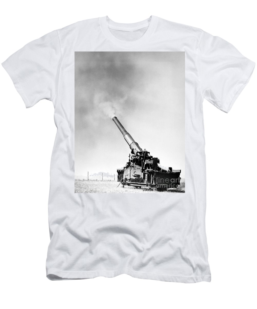 1950s Men's T-Shirt (Athletic Fit) featuring the photograph Nuclear Artillery, 1950s by Granger