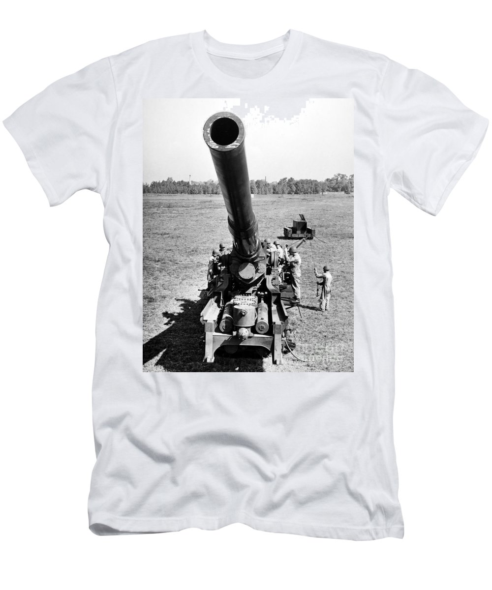 1952 Men's T-Shirt (Athletic Fit) featuring the photograph Nuclear Artillery, 1952 by Granger