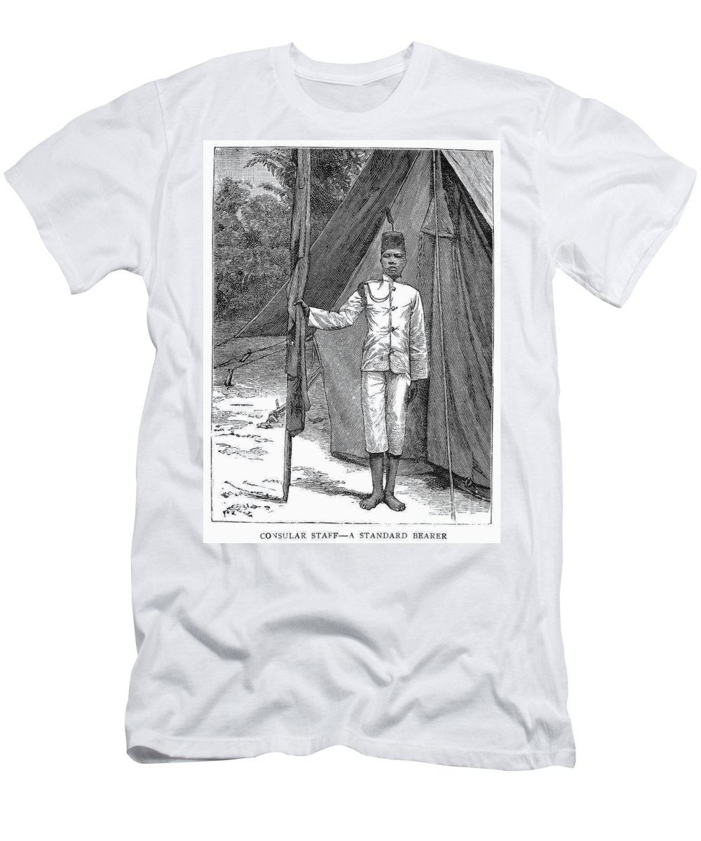 1889 Men's T-Shirt (Athletic Fit) featuring the photograph Nyasaland: Consular Staff by Granger
