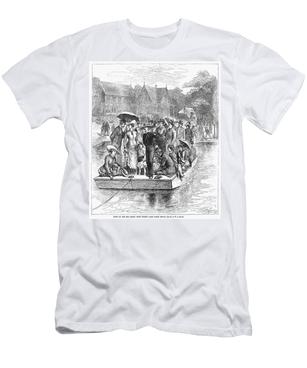 1878 Men's T-Shirt (Athletic Fit) featuring the photograph Ocean Grove Ferry, 1878 by Granger
