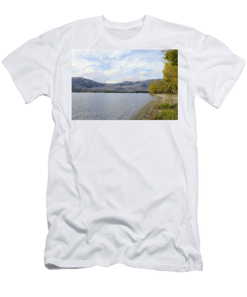 Fall Men's T-Shirt (Athletic Fit) featuring the photograph Okanagan Fall by John Greaves