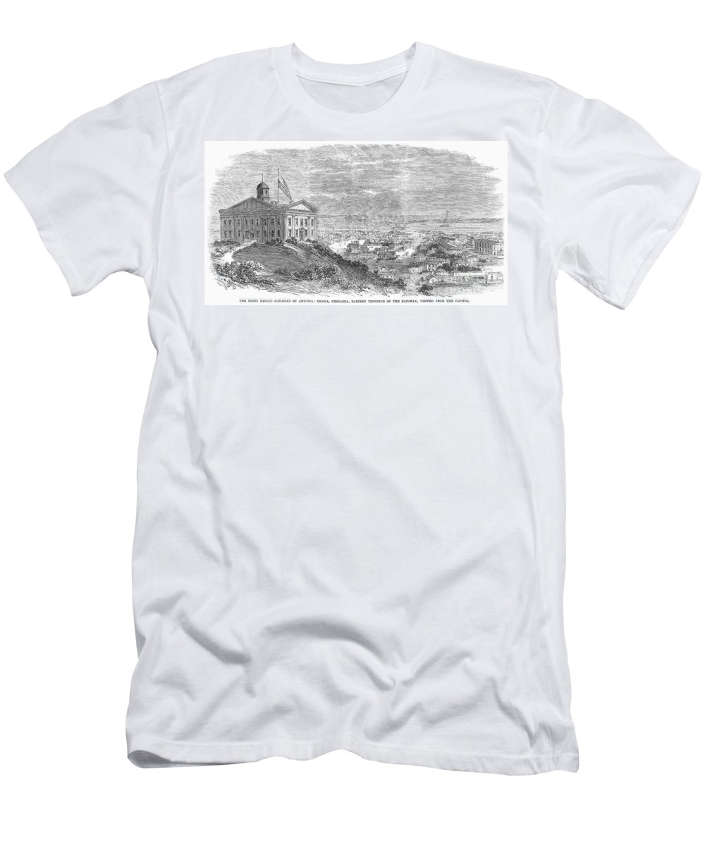 1869 Men's T-Shirt (Athletic Fit) featuring the photograph Omaha, Nebraska, 1869 by Granger