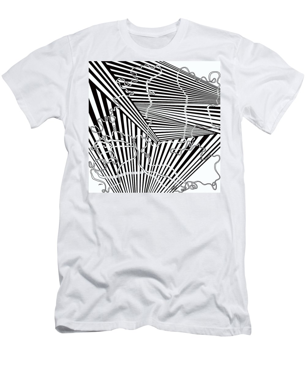 Optical Obsession Men's T-Shirt (Athletic Fit) featuring the painting One 15 by Douglas Christian Larsen