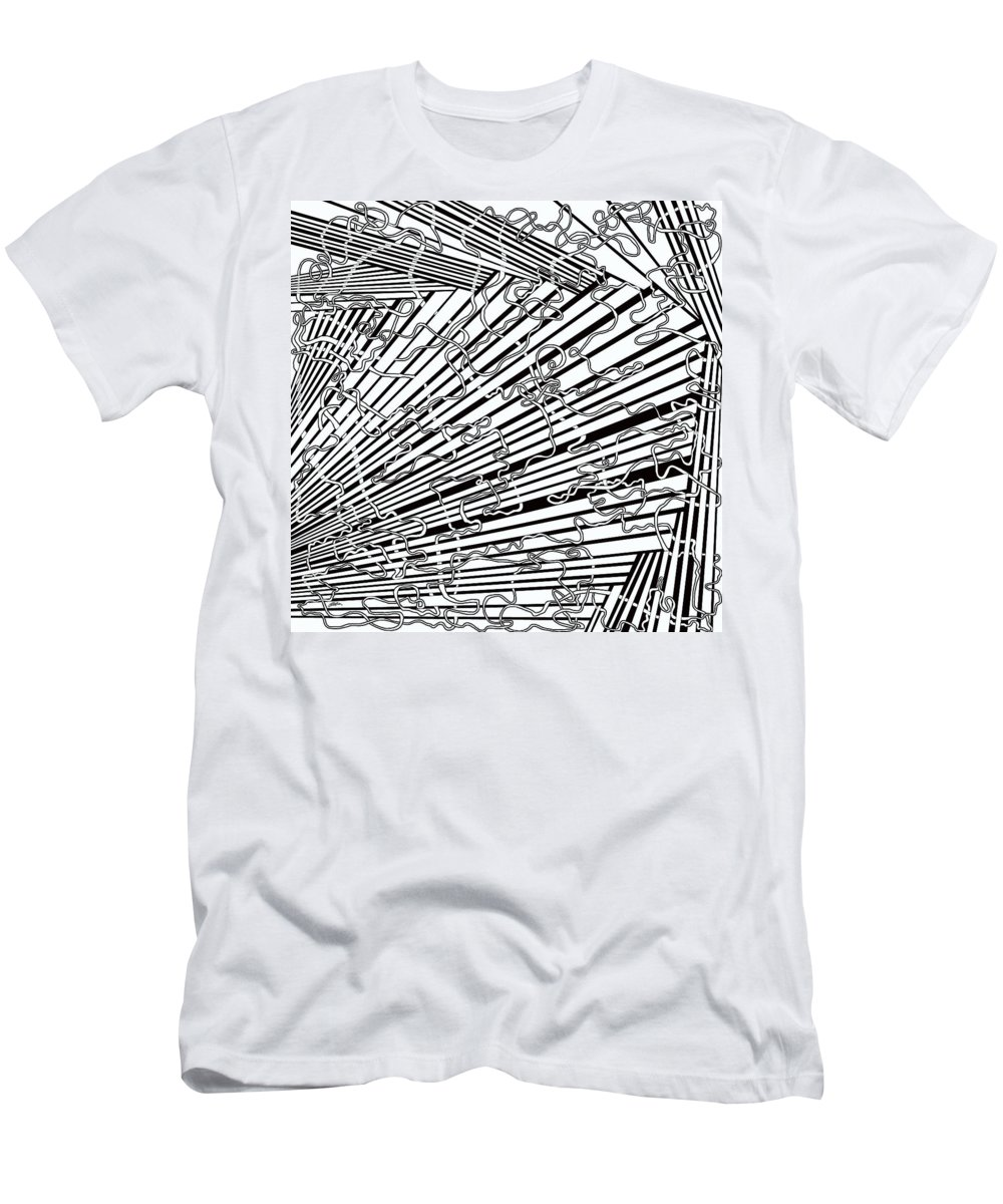 Meditation Labyrinth Men's T-Shirt (Athletic Fit) featuring the painting One 17 by Douglas Christian Larsen