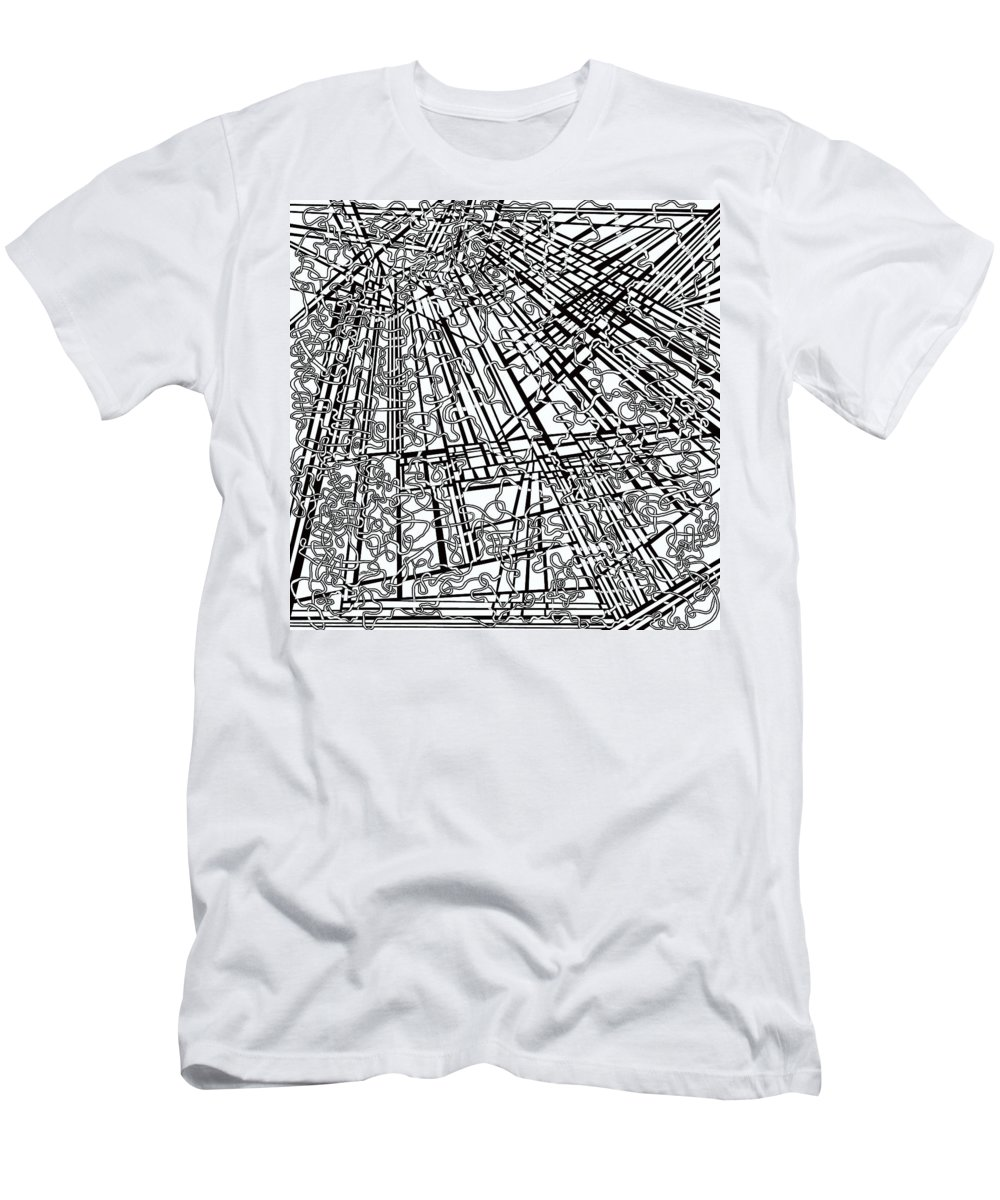 Meditation Labyrinth Men's T-Shirt (Athletic Fit) featuring the painting One 18 by Douglas Christian Larsen