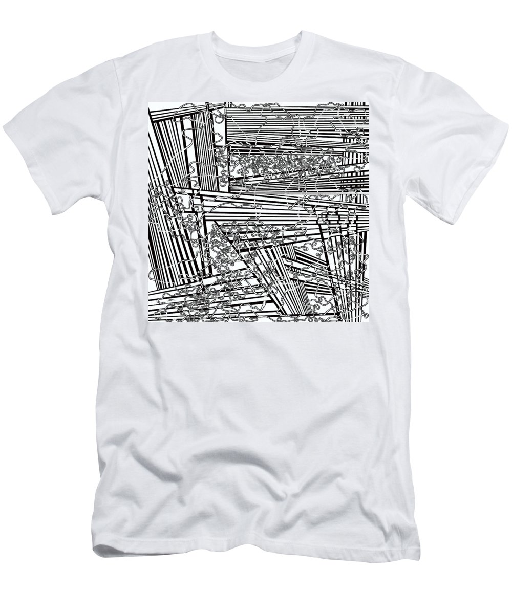 Meditation Labyrinth Men's T-Shirt (Athletic Fit) featuring the painting One 19 by Douglas Christian Larsen