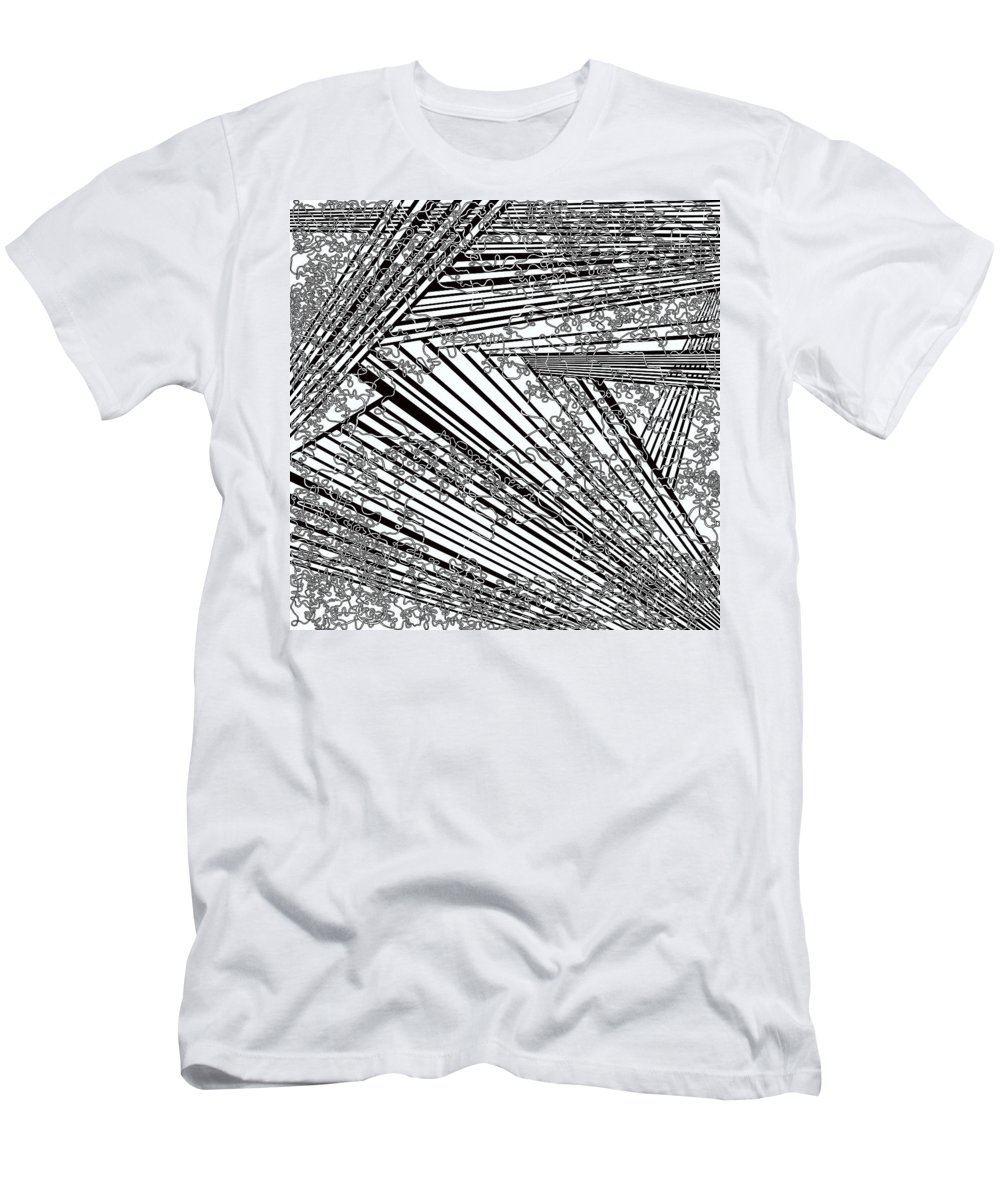 Meditation Labyrinth Men's T-Shirt (Athletic Fit) featuring the painting One 21 by Douglas Christian Larsen