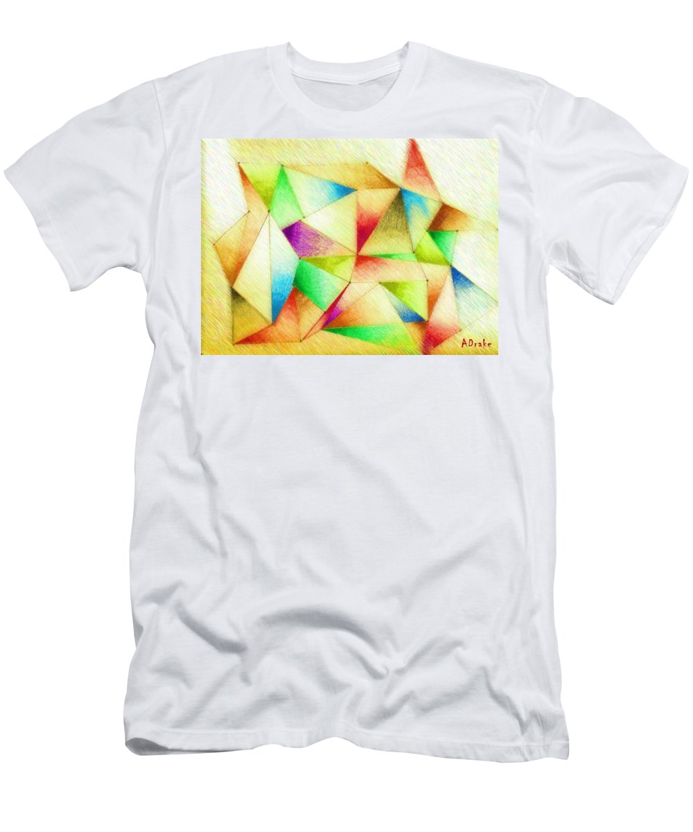 Dream Men's T-Shirt (Athletic Fit) featuring the mixed media One Night Of Dreams by Alec Drake