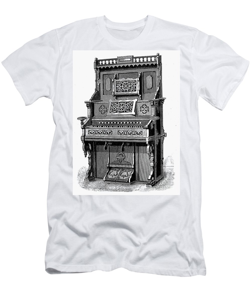 19th Century Men's T-Shirt (Athletic Fit) featuring the photograph Organ, 19th Century by Granger