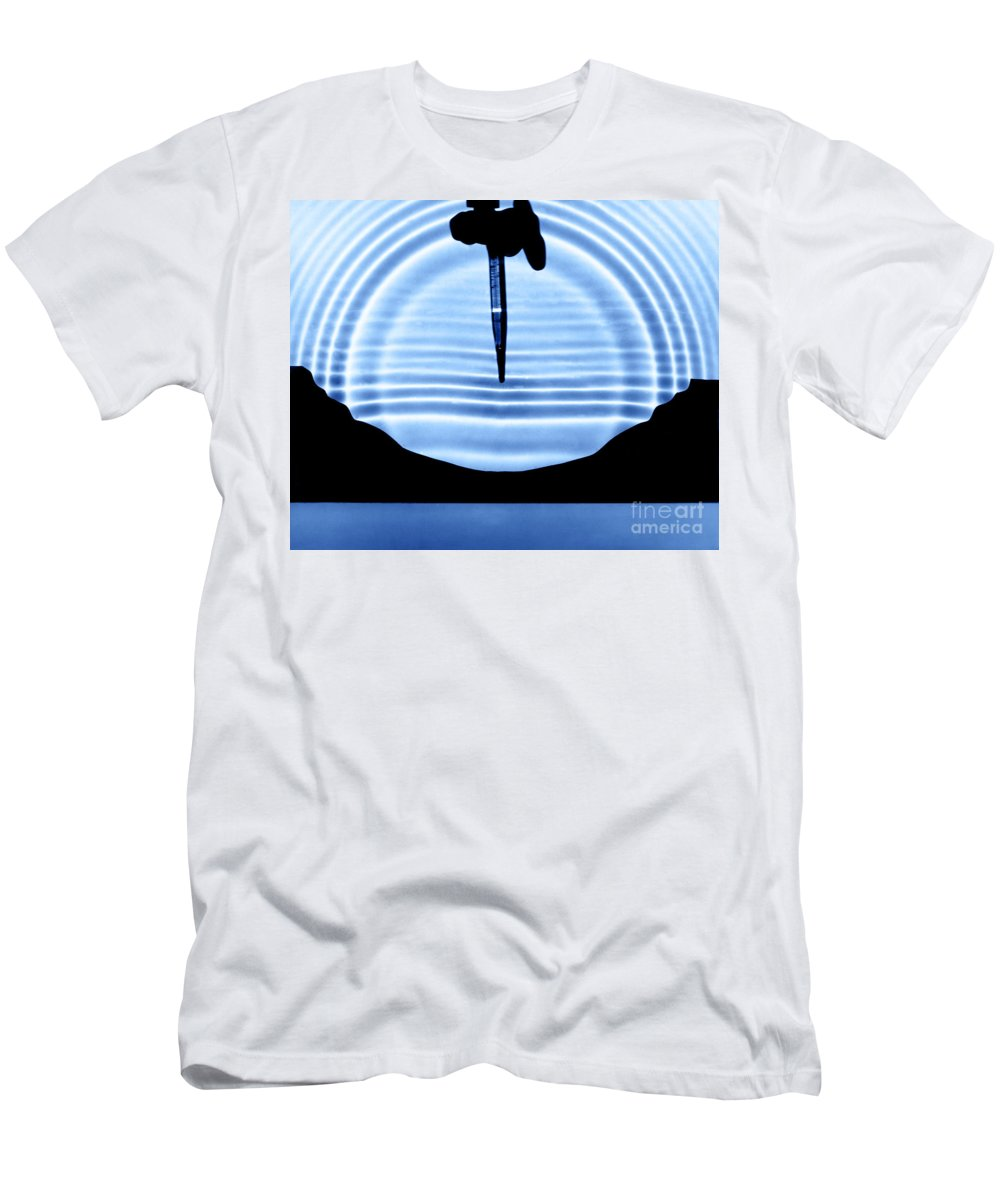 Circular Wave Men's T-Shirt (Athletic Fit) featuring the photograph Parabolic Reflection by Berenice Abbott