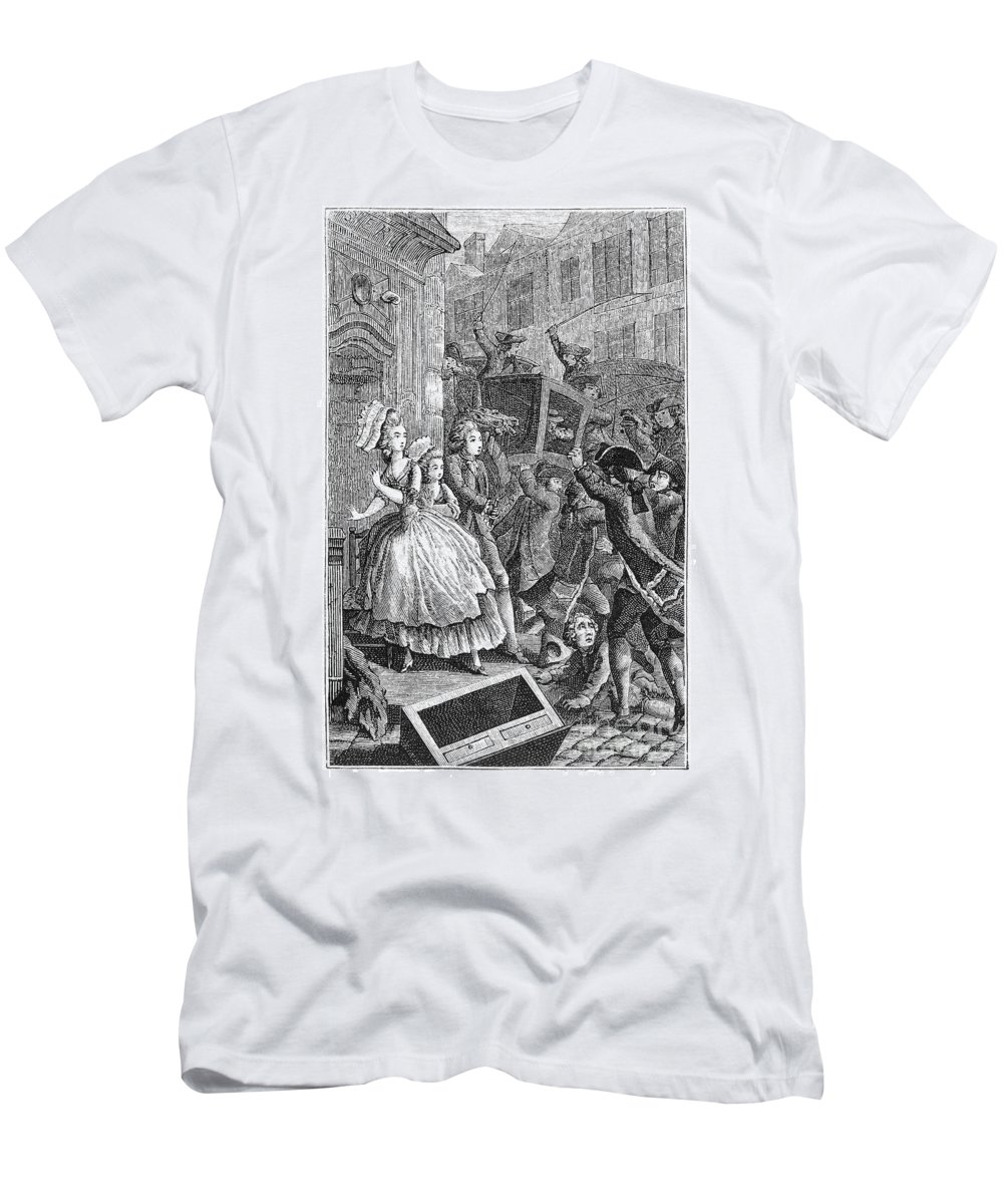 18th Century Men's T-Shirt (Athletic Fit) featuring the photograph Paris: Uproar In The Street by Granger