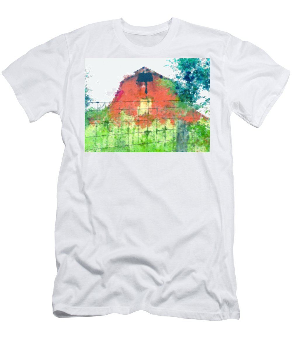 Men's T-Shirt (Athletic Fit) featuring the photograph Patched Up Art by Debbie Portwood