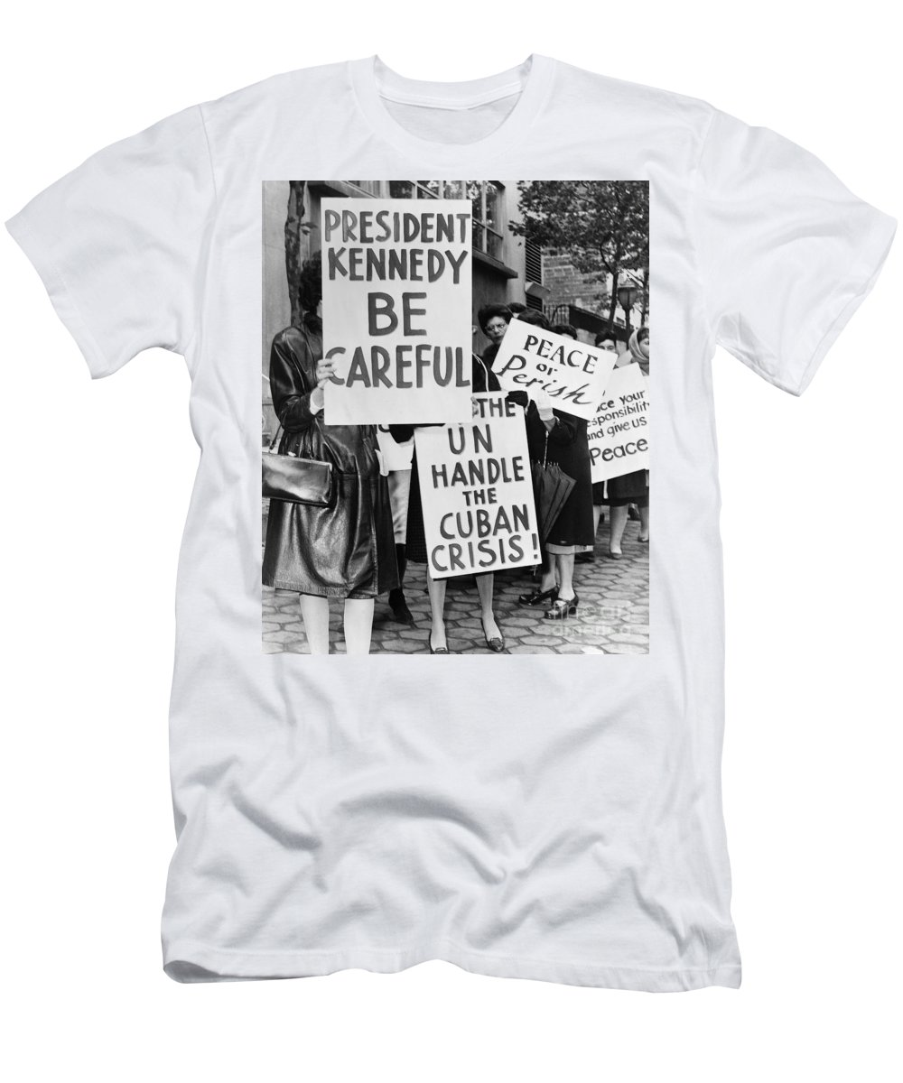 1962 Men's T-Shirt (Athletic Fit) featuring the photograph Peace Protest, 1962 by Granger