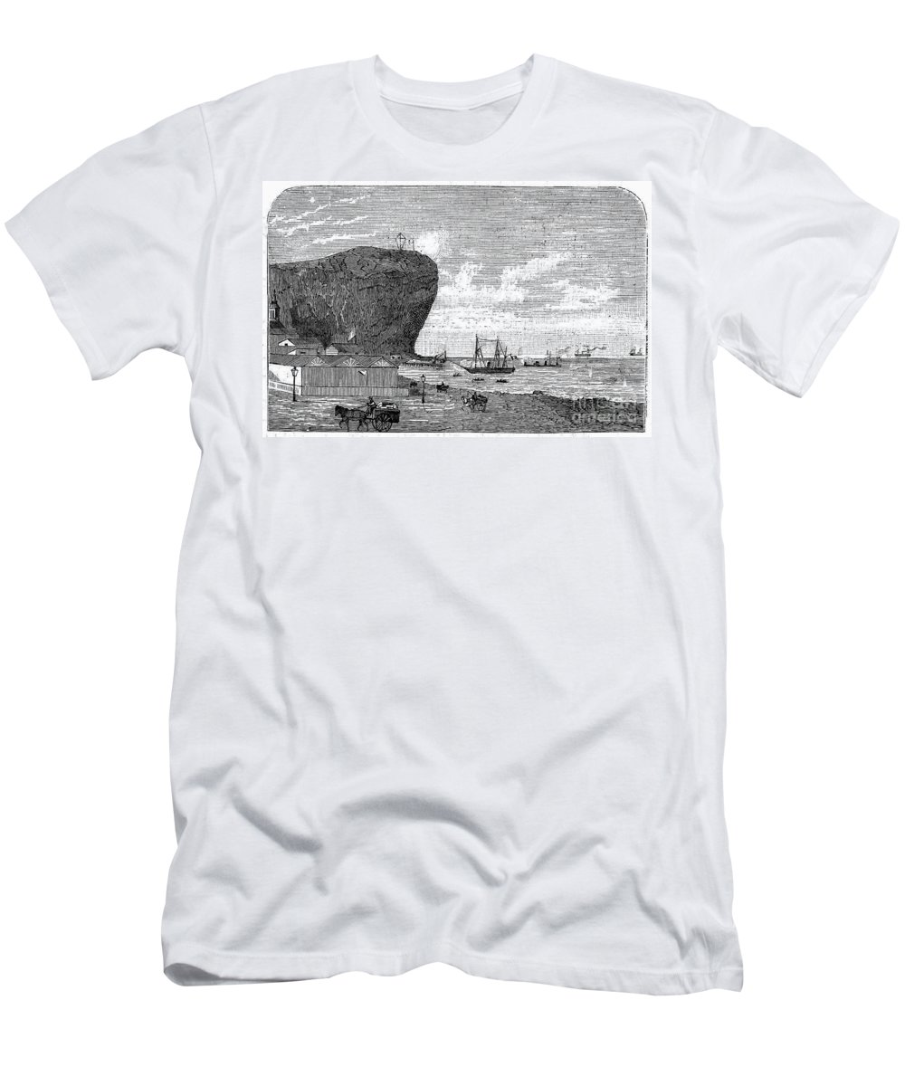 1880 Men's T-Shirt (Athletic Fit) featuring the photograph Peru: Arica, 1880 by Granger